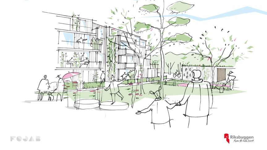 Riksbyggen vinner markanvisning för 36 lägenheter i Kalmar