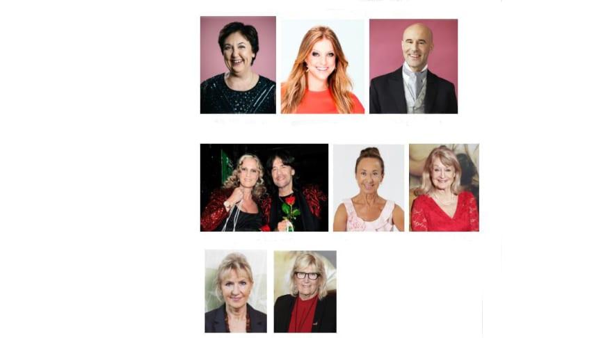 Under kvällen kommer bland andra Babben Larsson, Shirley Clamp, Mark Levengood, Maria & Robert Wells och Susan Lanefelt att underhålla.