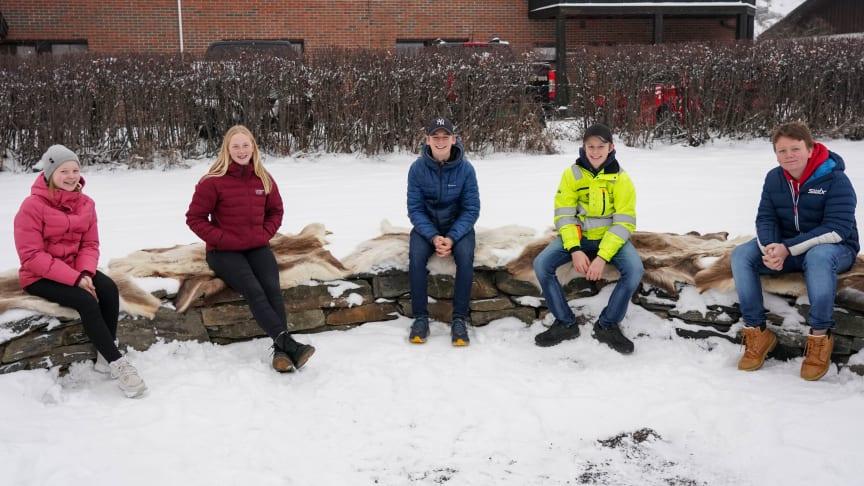 Elevene på Sør-Fron ungdomsskole har laget en installasjon og samlingsplass sammen med kunstner Ola Senstad, i regi av kunstorganisasjonen Harpefoss hotell. (Foto: Marthe Stenberg)