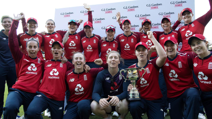 England celebrate in New Zealand earlier this year. Photo: Getty Images