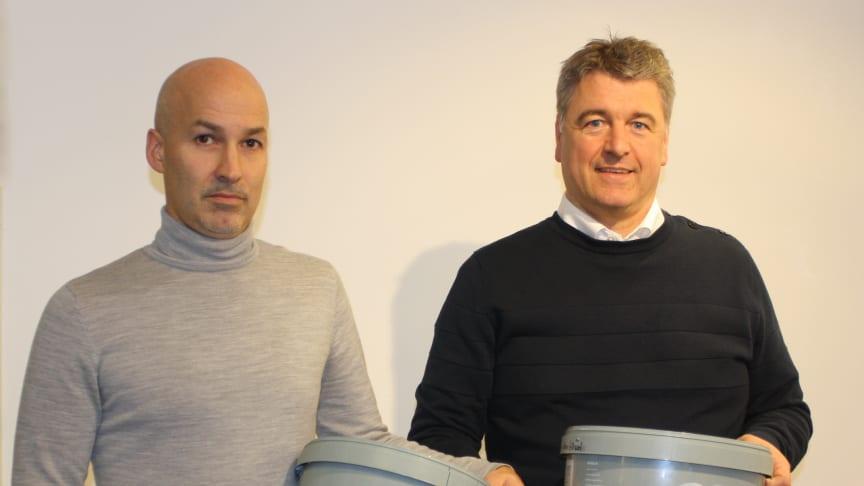 Mats Jeppsson, Innovation Manager och Richard Johansson Marknads- & Försäljningschef på Emballator Lagan Plast AB.
