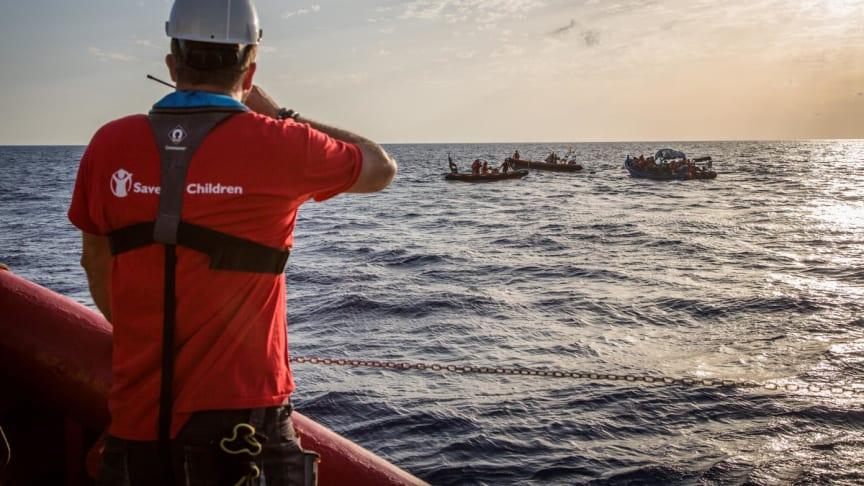 Rädda Barnen är redo för en räddningsinsats på Medelhavet. September 2016