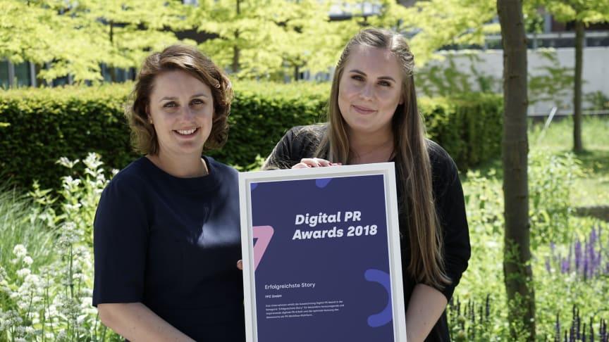 """Die glücklichen Gewinner des Digital PR Awards in der Kategorie """"Erfolgreichste Story"""""""