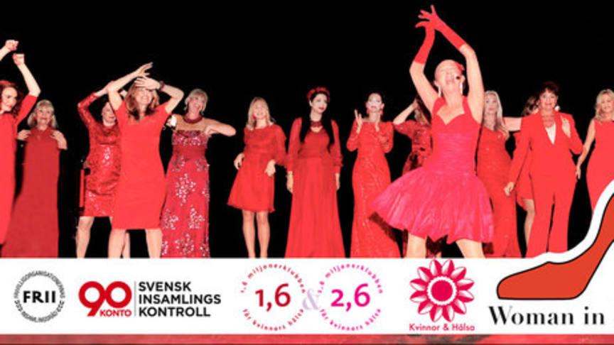 Hjälp oss rädda kvinnohjärtan  Woman in Red till Östersund