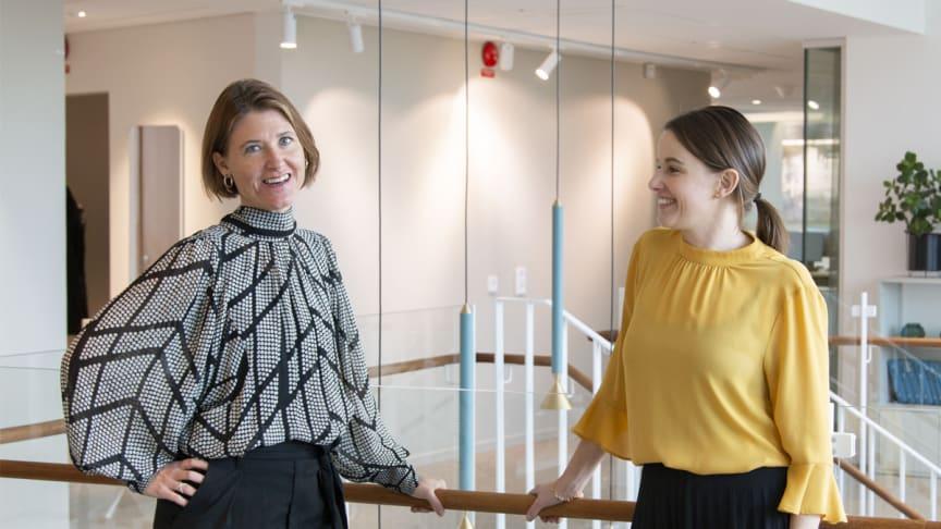 Anna Nambord, chef för Hållbara affärer och Tove Gleisner, HR-chef. Båda på Wihlborgs.