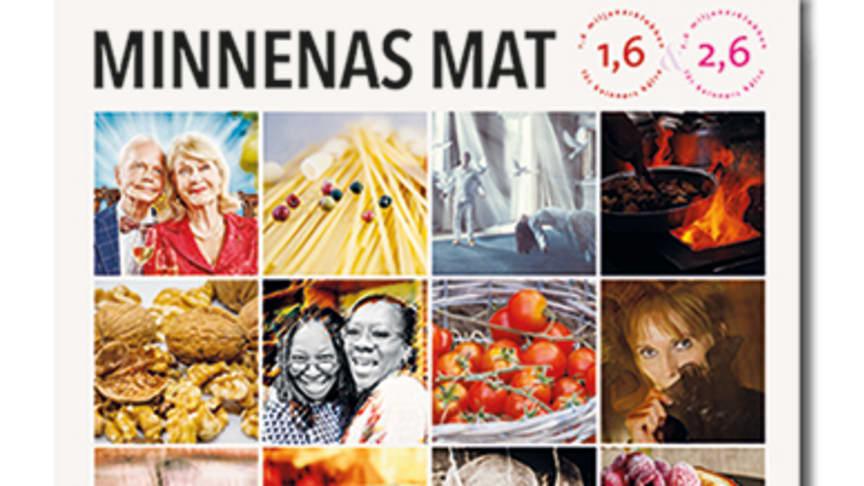 Receptsamlingen Minnenas Mat med  18 artisters personliga minnesvärda recept.