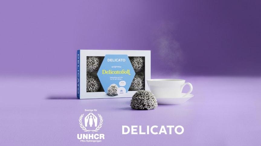 Under mars månad kommer 60 öre av varje såld förpackning av Delicatoboll 6-pack att gå till FN:s flyktingorgan UNHCR:s arbete