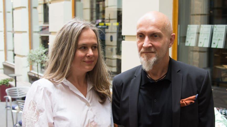 Hilde Stålskjær Osen og  Lars Saabye Christensen (Foto: Cappelen Damm)
