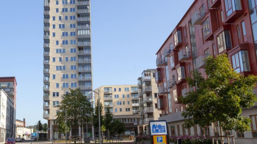 Kvillebäcken, en del av Älvstaden-området Backaplan.