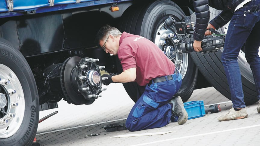 The ECO Disc brake produced by BPW allows brake service in record time. (Source: BPW Bergische Achsen KG)