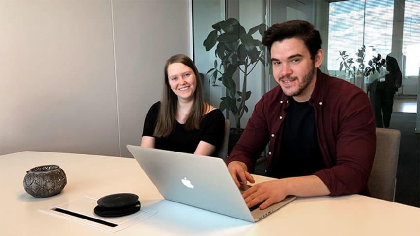 Studenterna Åsa Håkansson och Jonas Bergerheim har tagit fram en webblösning för den som vill starta verksamhet inom småskalig livsmedelsproduktion.
