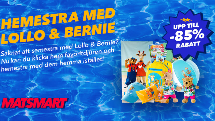 Matsmart och Ving räddar 350 000 Lollo & Bernie-produkter