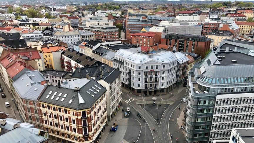 Fasadgruppen genomför omfattande renovering av 142 radhus i Åneby i Norge