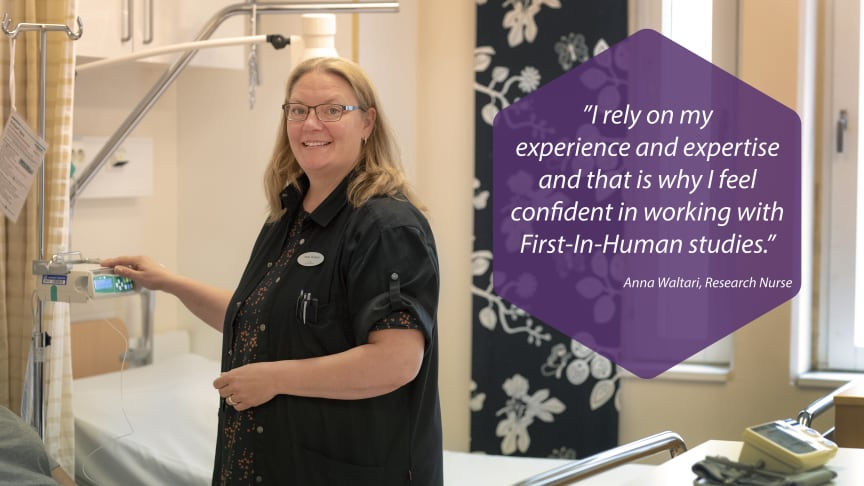 Anna Waltari has 15 years of experience in working with intensive care.