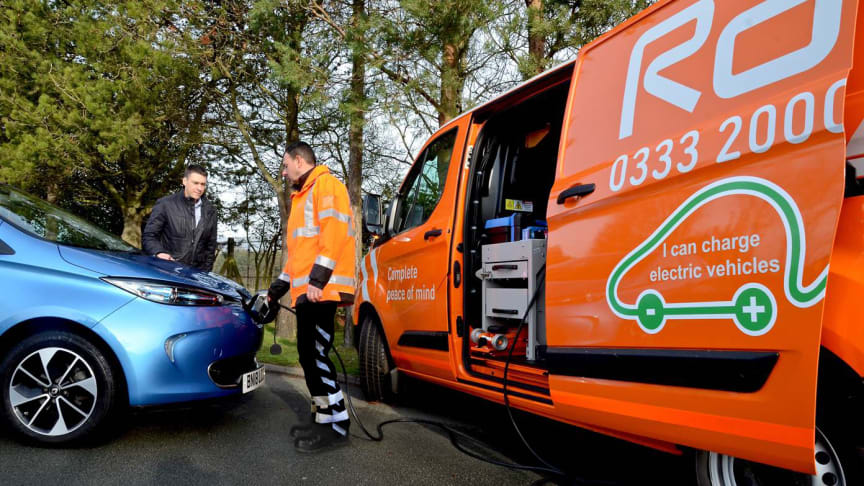 RAC develops UK's first lightweight charger to deliver a  'journey-saving' boost to electric vehicles