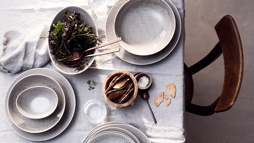 """Timeless, pure, simply beautiful: the new colour variation """"Mesh Mountain"""" from Rosenthal."""
