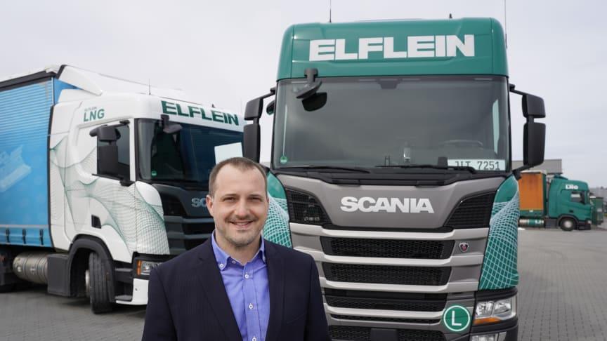 Seit rund zehn Jahren setzt Elflein bereits auf Scania Lkw.