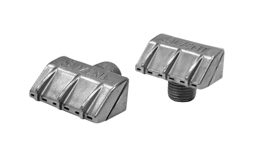 Silvent's  new flat energy efficient air nozzles, SILVENT 941 and SILVENT 931. Photo: Mats Johansson