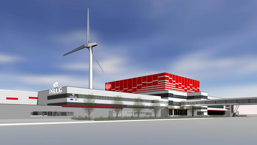 Produktionen i den nya fabriken planeras starta våren 2022.