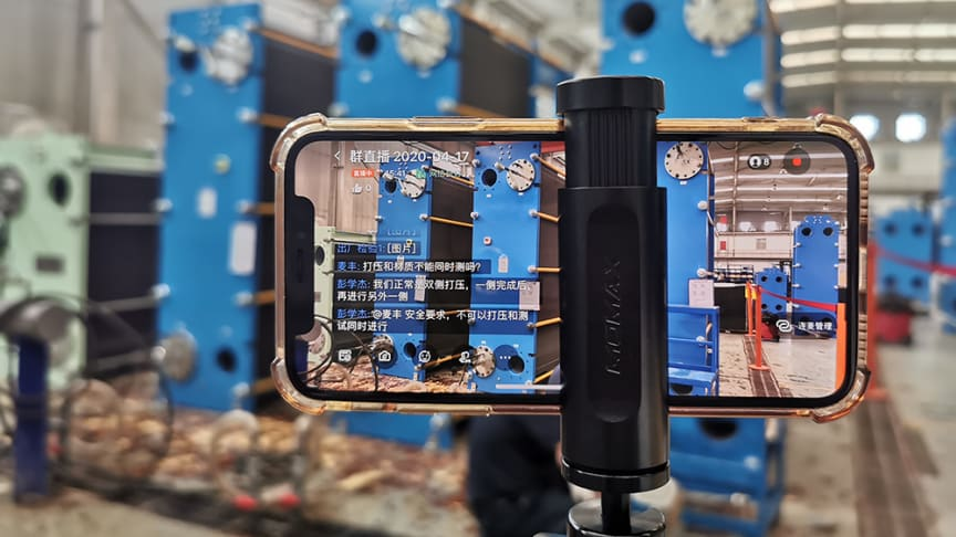 Digitized customer service speeding up in pandemic - Tranter offers online live streaming delivery inspection of plate heat exchangers in China.