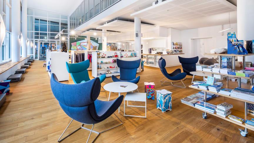 Das Welcome Center Kieler Förde lädt zum Informieren und Verweilen ein