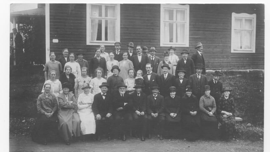 Friluftsgudstjänst i Bäckegruvan 1926