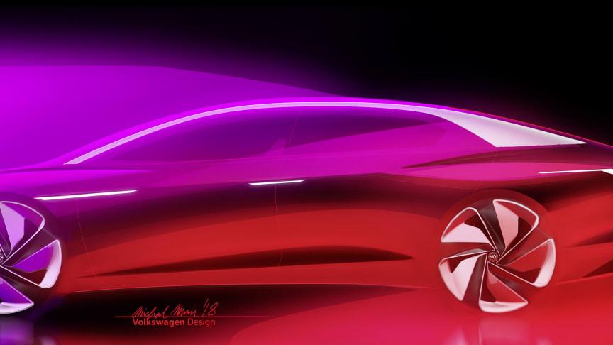 Den selvkørende VIZZION giver Volkswagens nye I.D. modelserie en ny dimension.