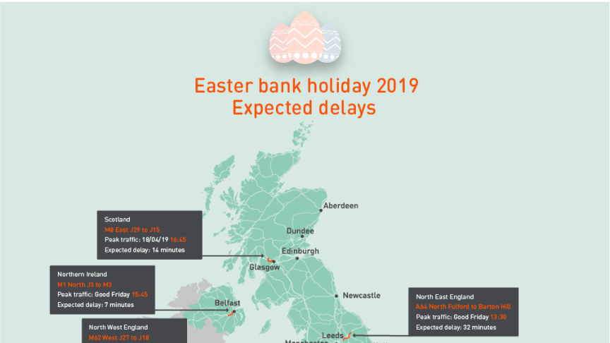 Easter 2019 expected delays map