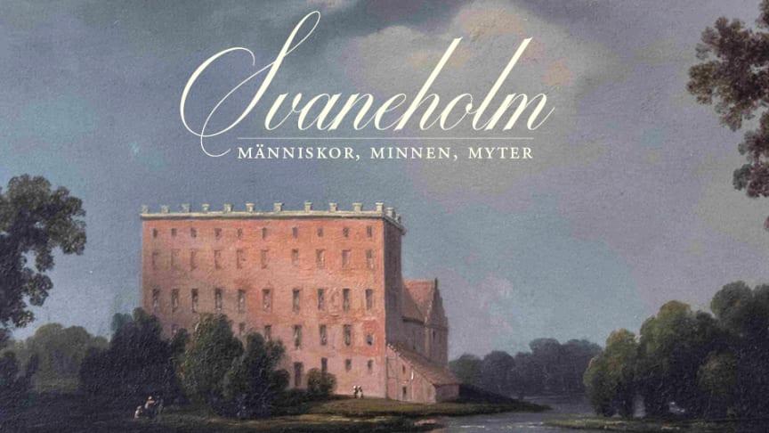 Framsidan till boken om Svaneholms slott. Grafisk formgivare: Sara Andersson
