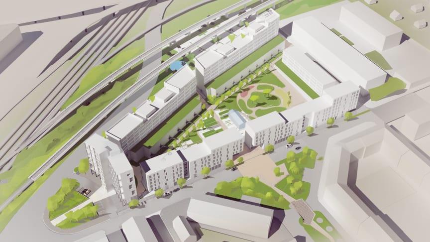 Castellum och HSB i samarbete kring nya stadskvarteret Söderport i Örebro