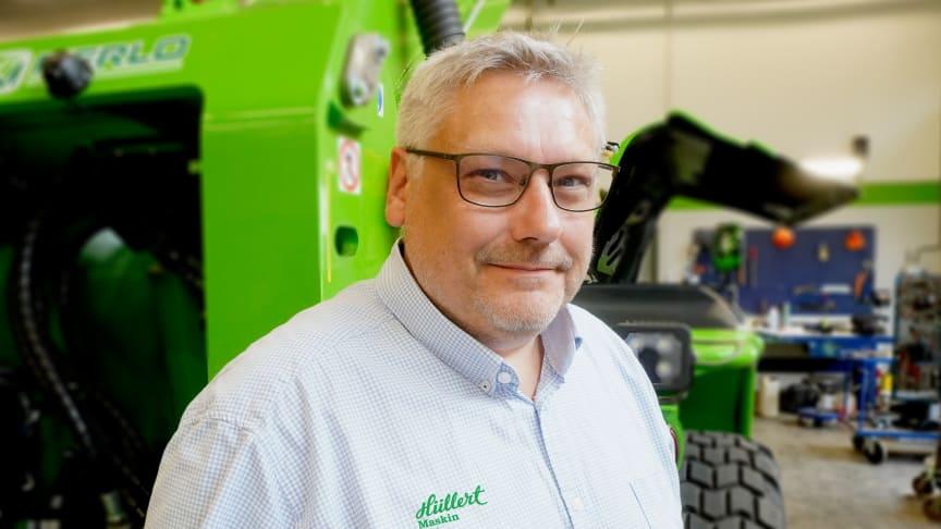 Thomas Magnusson är ny säljare på Hüllert Maskin.
