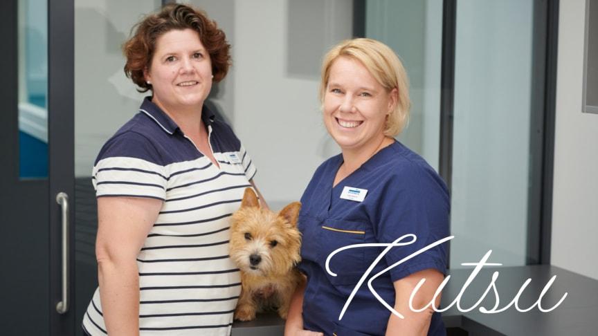 Klinikkamanageri Leena Kaltiainen ja klinikan johtaja, eläinlääkäri Tiina Wright luotsaavat uudistuvaa Espoon Eläinsairaalaa.