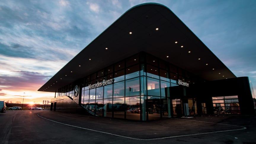 Bilcenter i Nyköping blev först i Sverige med Mercedes-Benz nya världsomspännande anläggningskoncept MAR2020.