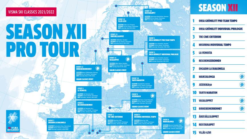 Programmet klart för Visma Ski Classics 2021/2022 – flera nyheter