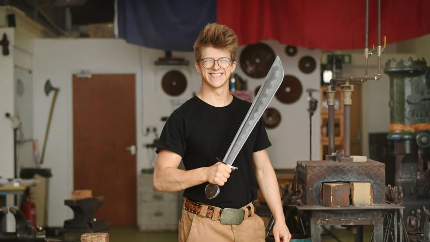Alec Steele in Forged with Steele on The HISTORY Channel