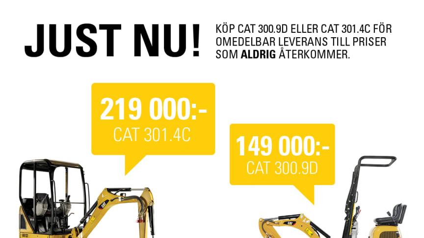Vintererbjudande på Cat 300.9D och 301.4C!
