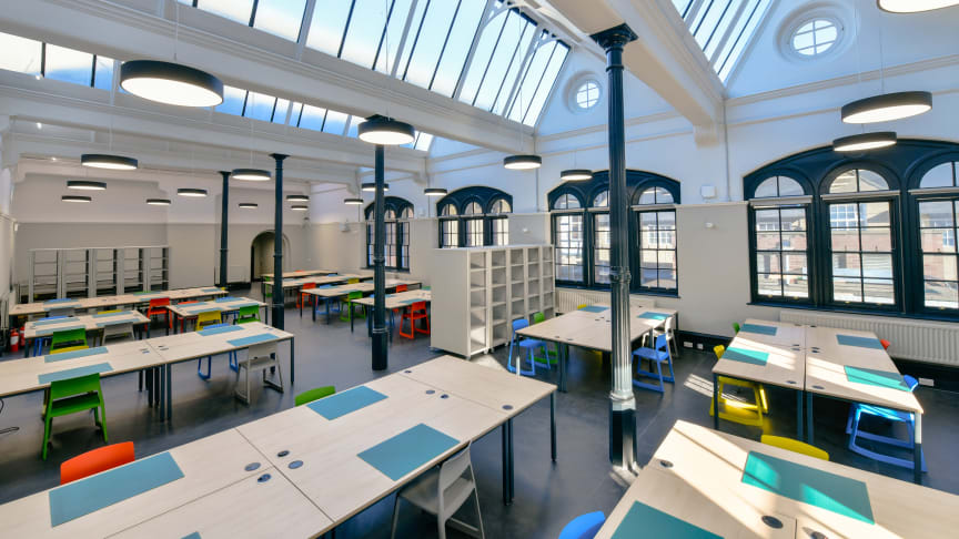 Northumbria's new Architecture studios sympathetically combine old and new with an extension to the University's Grade II listed Sutherland Building