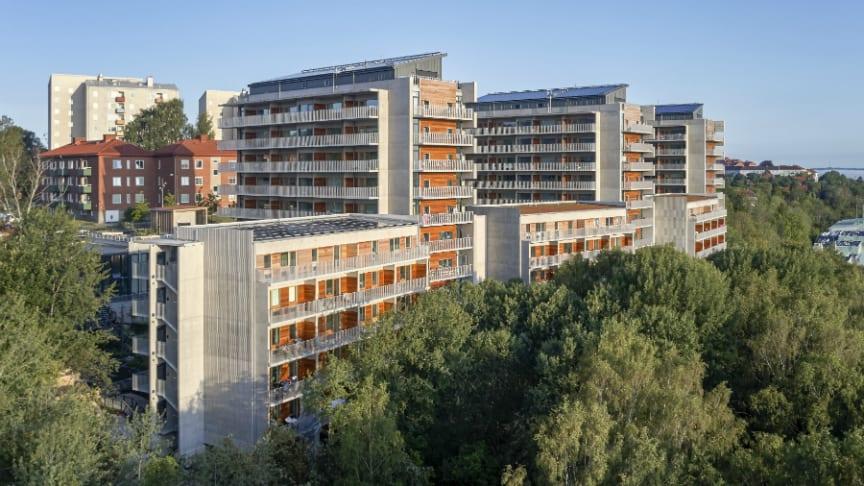 Brf Viva med sammanlagt 132 lägenheter. Foto: Ulf Celander