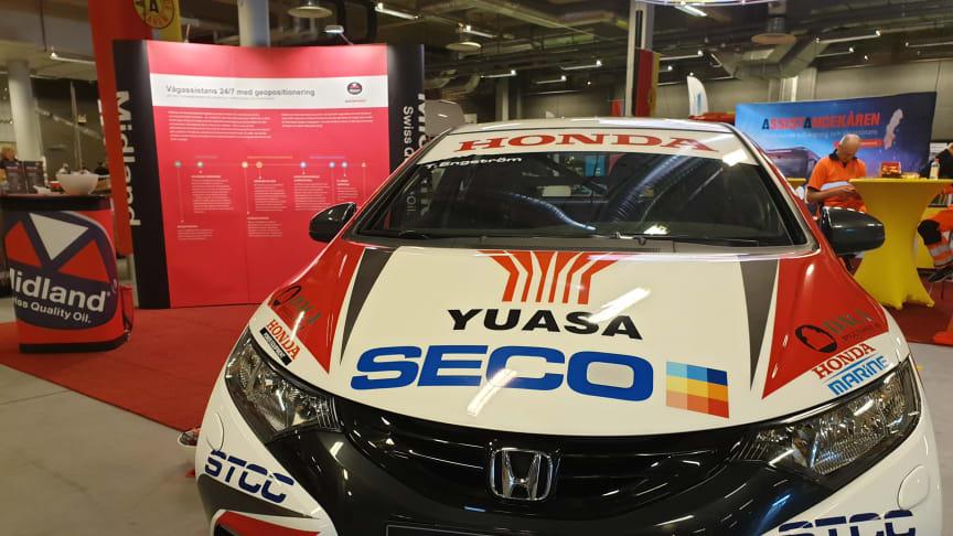 TCR-tävling i Anderstorp lördag  - det fick bli utställning istället för bana för Hondas STCC-bil.