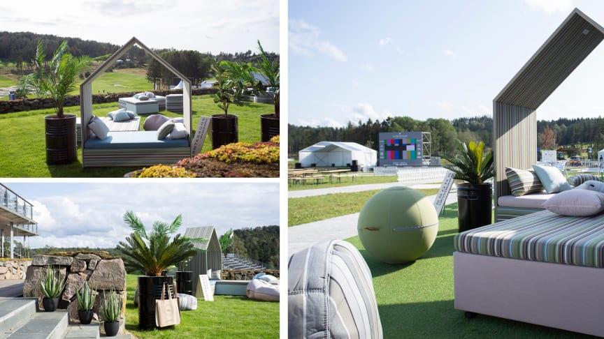 The Hut Lounge Collection, Office Ballz och konstgjorda växer var några av Götessons produkter som dekorerade VIP-loungerna på Scandinavian Invitation i helgen.