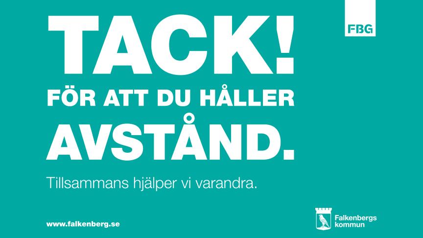 Affisch coronakampanj Falkenberg