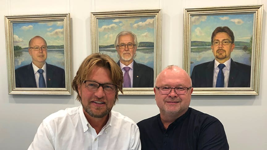 Lars Bengtsson, VD för JOHBECO och Jari Kokkonen, VD på Arvo Kokkonen Oy