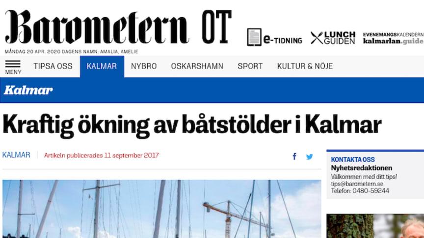 Polisen informerar om CoBoats efter kraftig ökning av båtstölder i Kalmar