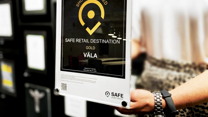 När SAFE Asset Group genomförde sin säkerhetscertifiering SHORE på Väla så fick handelsplatsen betyget Outstanding, vilket är den högsta nivån i bedömningsskalan.