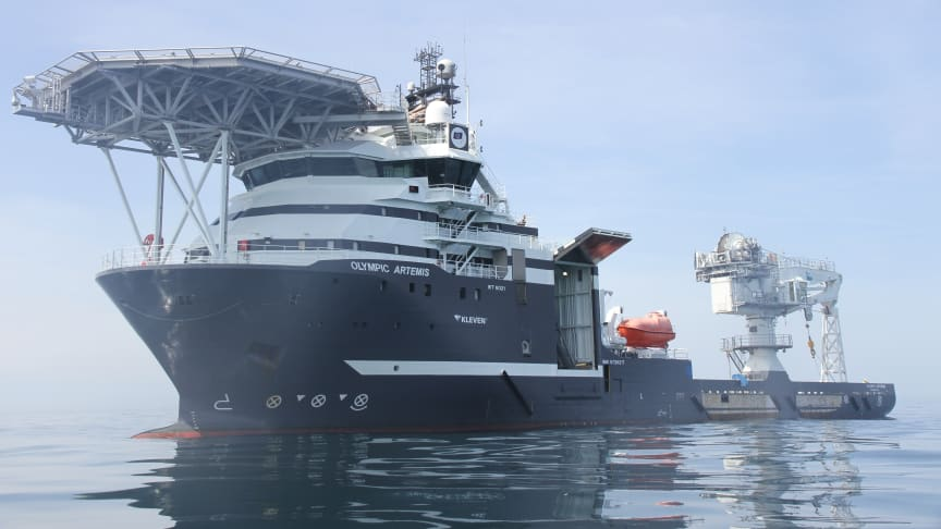 Olympic Artemis will be the first Olympic Subsea ship to deploy Kongsberg Digital's Vessel Insight and Vessel Performance data infrastructure and performance monitoring solutions (Photo: James Fisher)