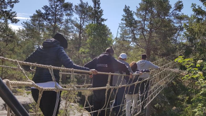 Äg din natur - ett samverkansprojekt mellan Scouterna, Fryshuset och Akademiska skolan. Fotograf: Emma Berggren
