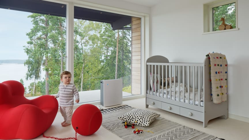 The new Blueair Classic range deliver's more clean air faster and quieter to help ensure a child breathes cleaner, healthier air free of contaminants.