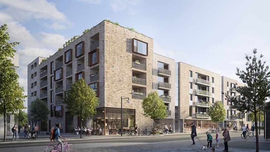 De 186 nya bostäderna i stadsdelen Aranäs är en del av den satsning som HSB Göteborg gör i Kungsbacka.