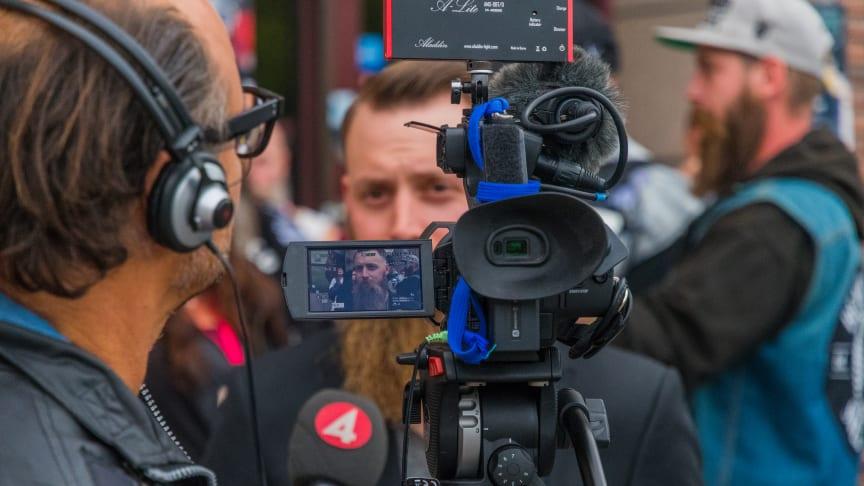 Skäggparaden på World Beard Day uppmärksammas på riksnyheterna. Foto: Andreas Fransson / Beardshop.se