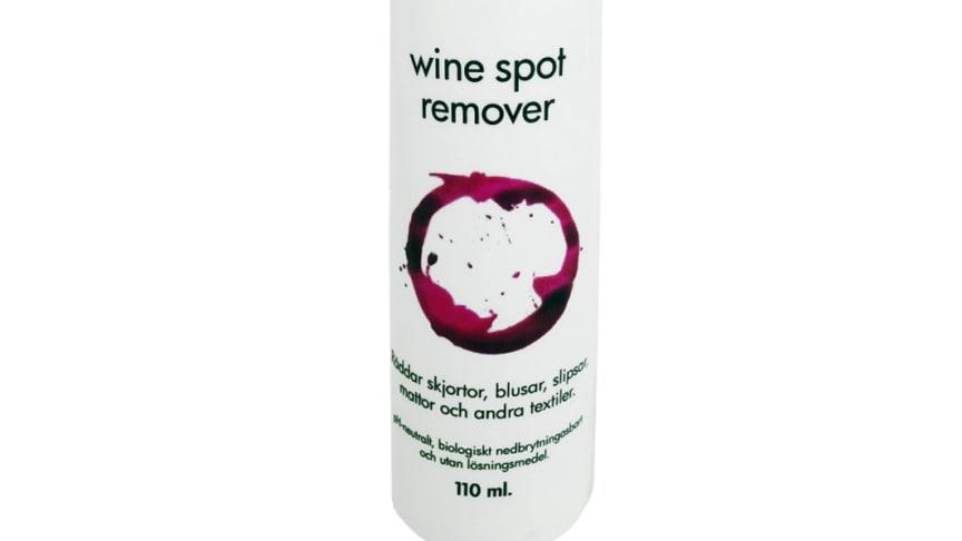 Vinfläcksborttagaren är pH-neutral och biologiskt nedbrytbar